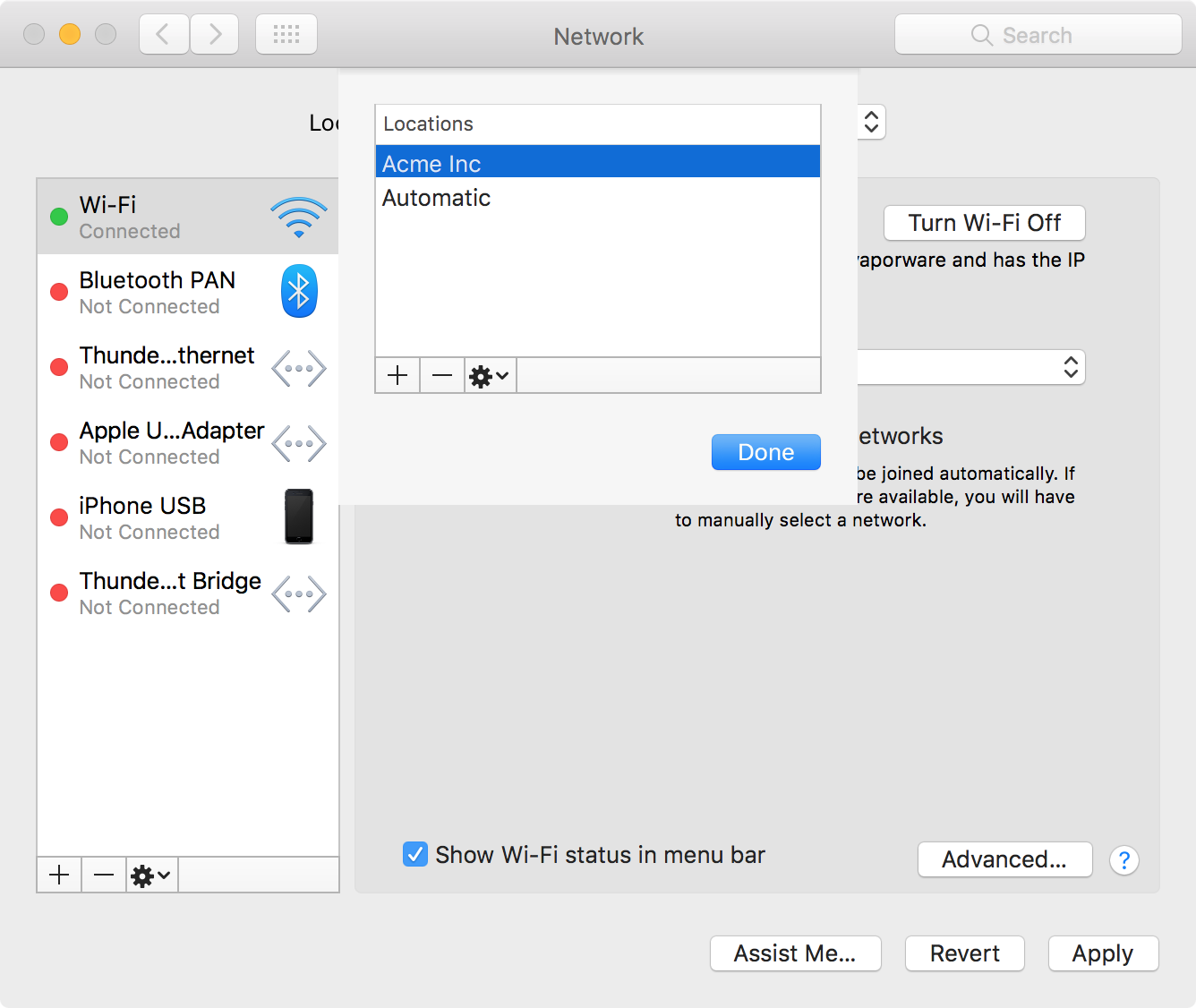 Automating network location switching on macOS - Data at
